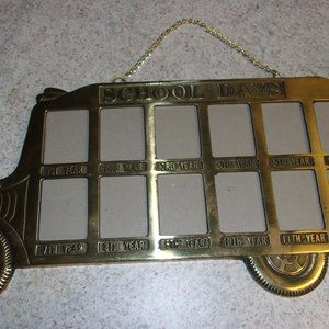 Brass Picture Frame 1-12 Grade School Pictures